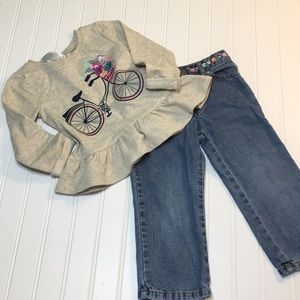 Flower power outfit size 2T